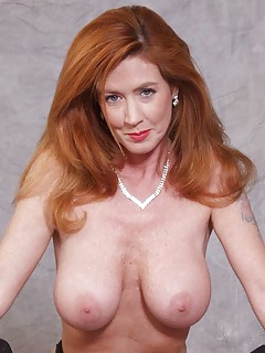 Milf long red hair